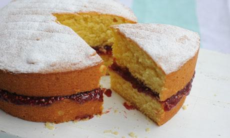 Dan Lepard's Victoria sponge cake