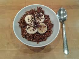chocolate banana quinoa breakfast bowl recipe