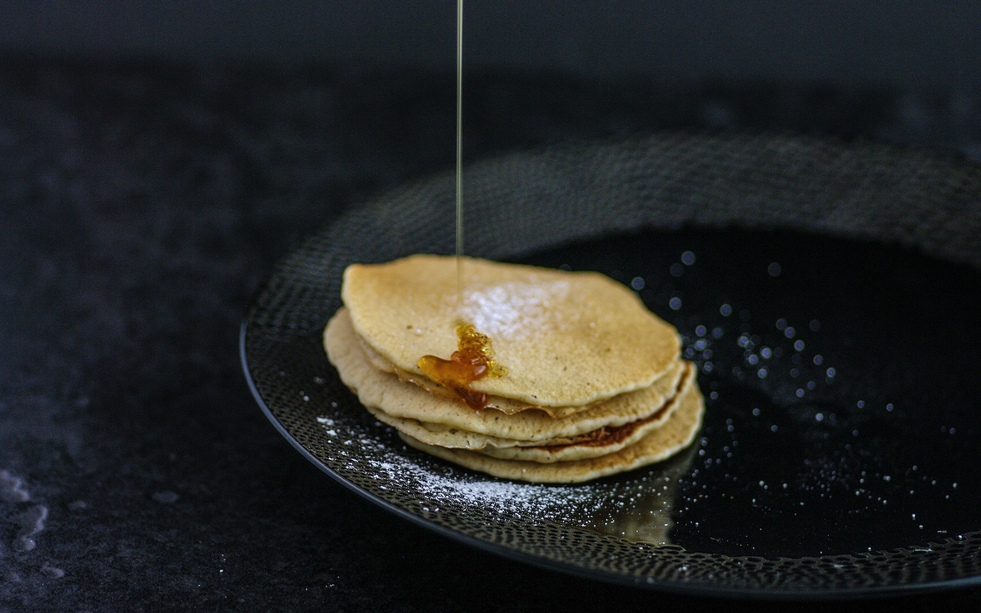 Maple syrup golden syrup pancakes